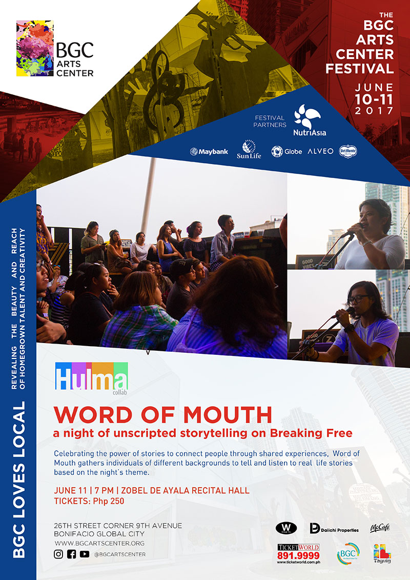 WORD OF MOUTH a night of unscripted storytelling on Breaking Free