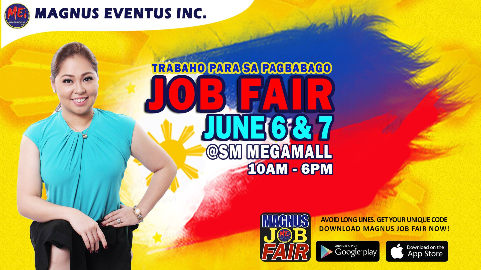 Trabaho para sa Pagbabago Job Fair at SM Megamall DU30's Anniv