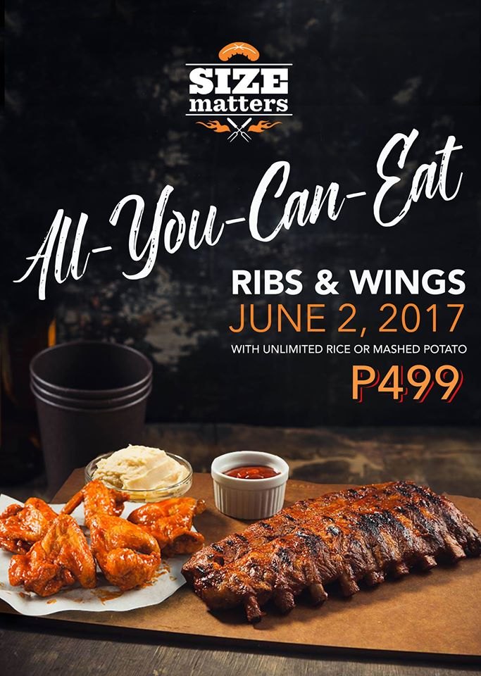 Eat All You Can Ribs and Wings by Size Matters