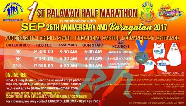 1st Palawan Half Marathon 2017