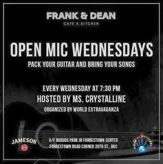WORLD EXTRAVAGANZA: OPEN MIC WEDNESDAYS AT FRANK & DEAN