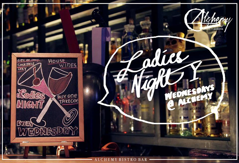 LADIES NIGHT AT ALCHEMY BISTRO BAR