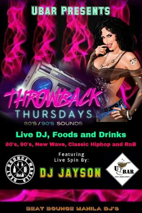 THROWBACK THURSDAY AT U BAR