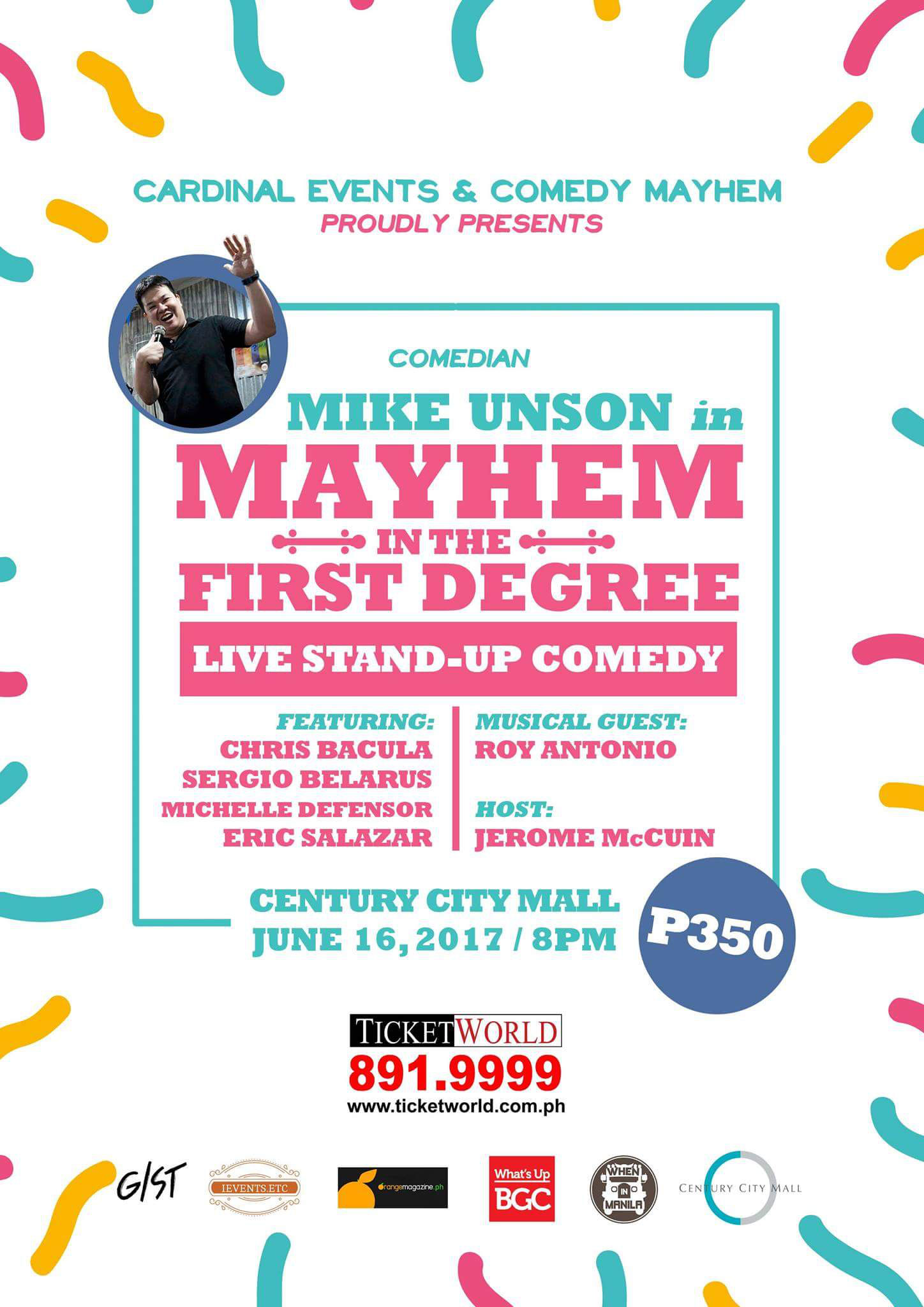 MIKE UNSON in MAYHEM in the First Degree - Live Stand-Up Comedy