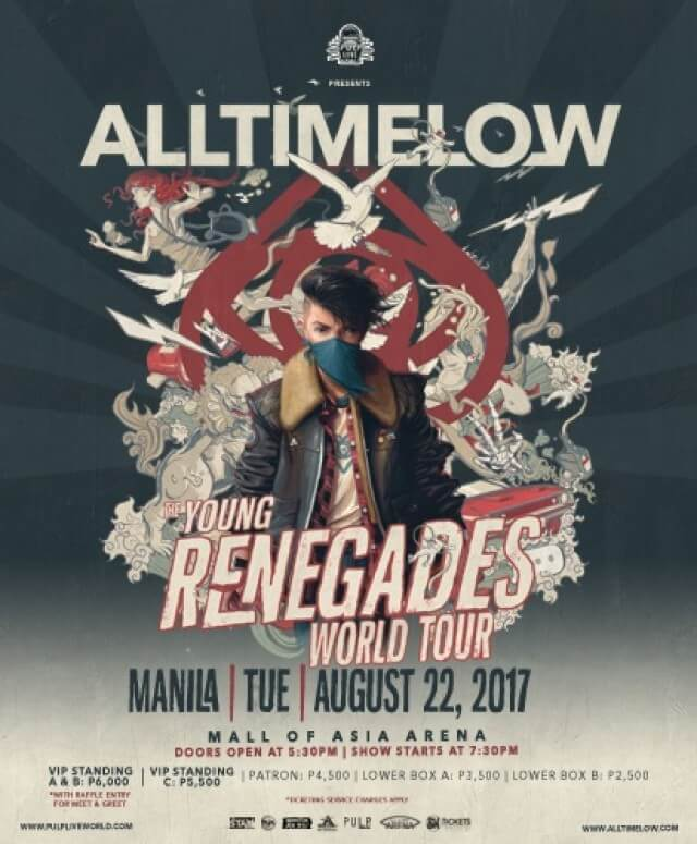 ALL TIME LOW : THE YOUNG RENEGADES WORLD TOUR