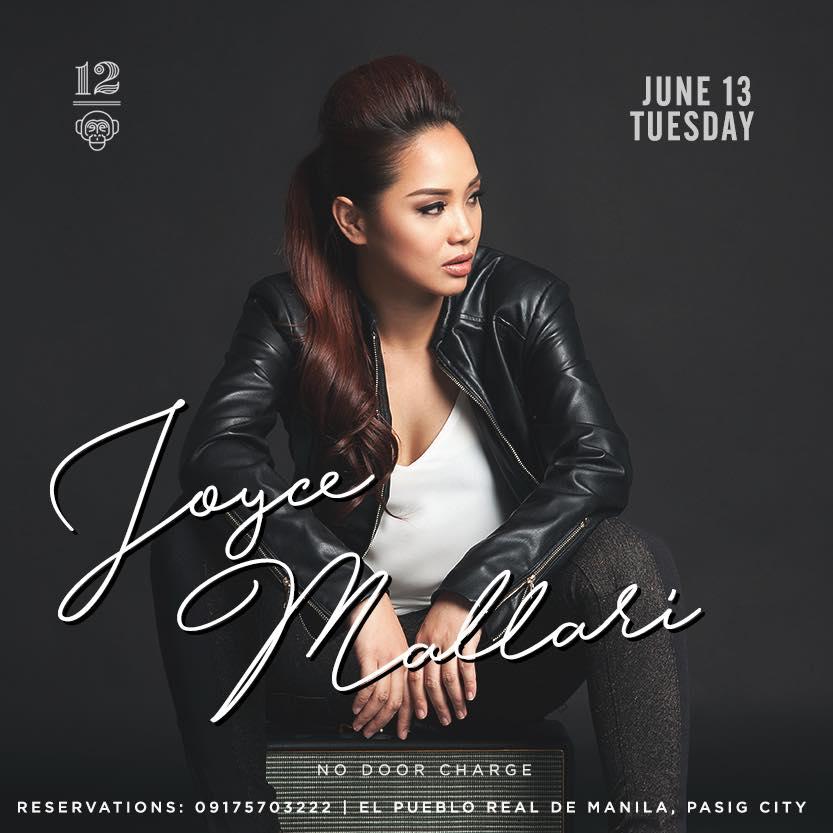 JOYCE MALLARI AT 12 MONKEYS MUSIC HALL & PUB