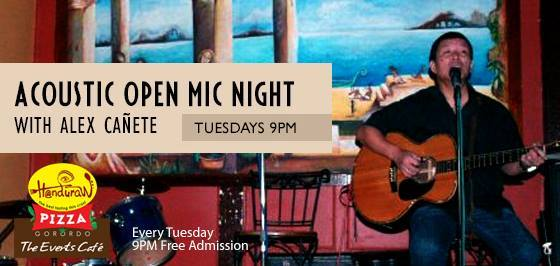 ACOUSTIC OPEN MIC NIGHT AT HANDURAW PIZZA GORORDO