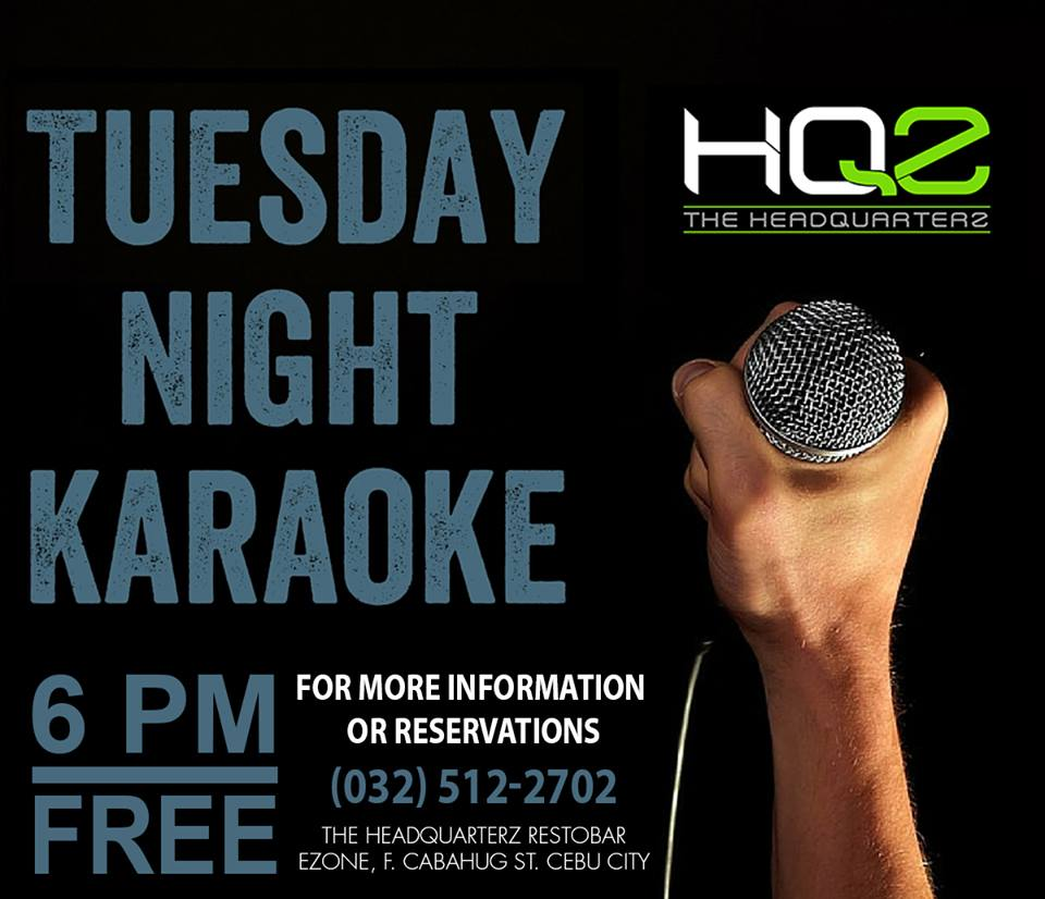 TUESDAY NIGHT KARAOKE AT HEADQUARTERZ