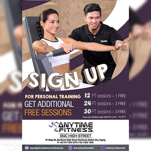 Anytime Fitness Free Sessions Promo