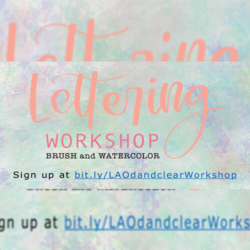 Brush X Watercolor Lettering Workshop