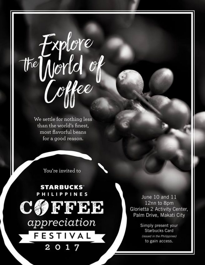 Starbucks Philippines Coffee Appreciation Festival 2017