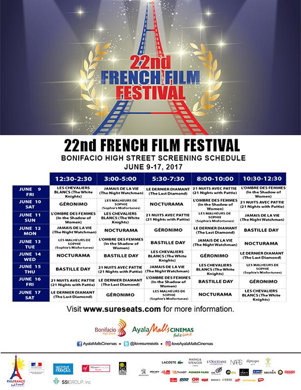 22nd French Film Festival at Bonifacio High Street