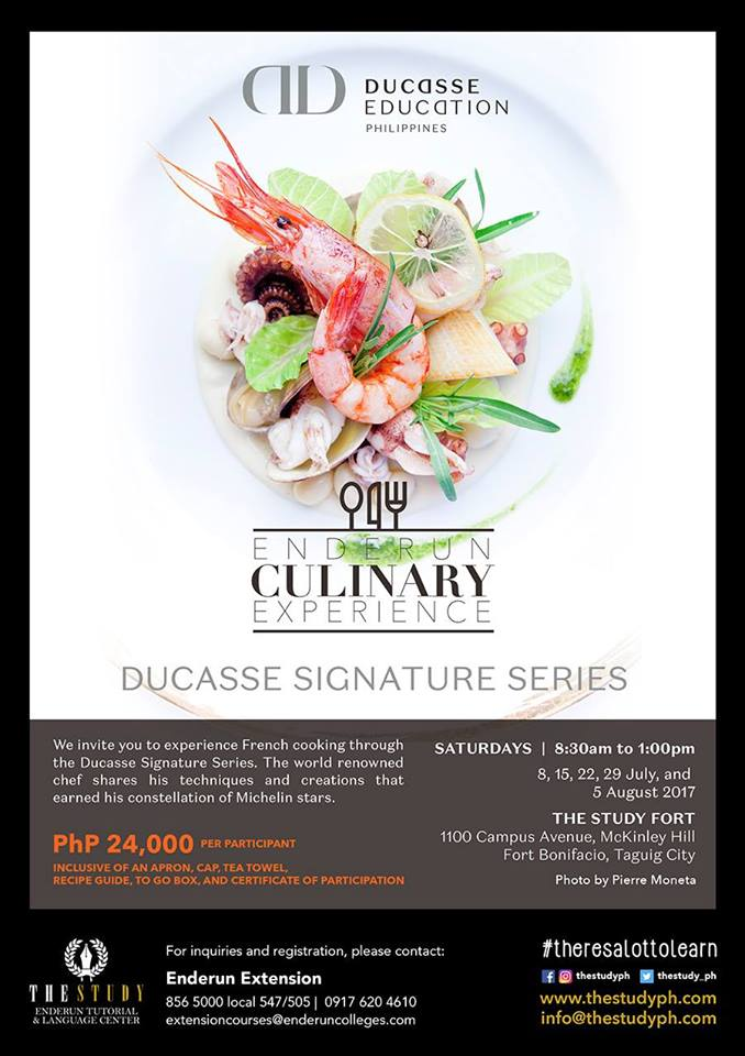 Enderun Culinary Experience: Ducasse Signature Series