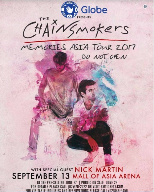 The Chainsmokers The Memories Asia Tour 2017 Do Not Open