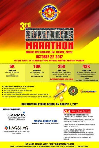 Philippine marine corps marathon 2017 what 39 s happening for Marine corps marathon shirt 2017