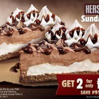 Get 2 Hershey's Sundae Pie slices for just P99 at Burger King Philippines