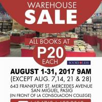 Get Your Next Favorite Read for Only P20 @ Books For Less Warehouse Sale