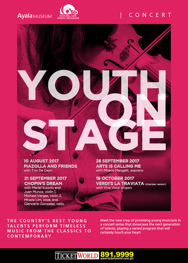 Youth On Stage: Art is Calling Me (with Mheco Mangalit, soprano)