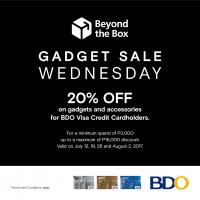 Get 20% off on gadgets and accessories from Beyond the Box
