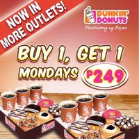 Dunkin' Donuts Buy 1 Take 1 Mondays: Php249 All In!!