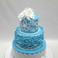 Beginners 3-Layer Fondant Wedding Cake