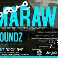 SAVE MARAWI BENEFIT GIG FOR THE REFUGEES OF MARAWI CITY AT CHECKPOINT ROCK BAR