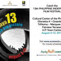 Biggest Indie Film Festival The 13th Cinemalaya at Ayala Malls Cinemas