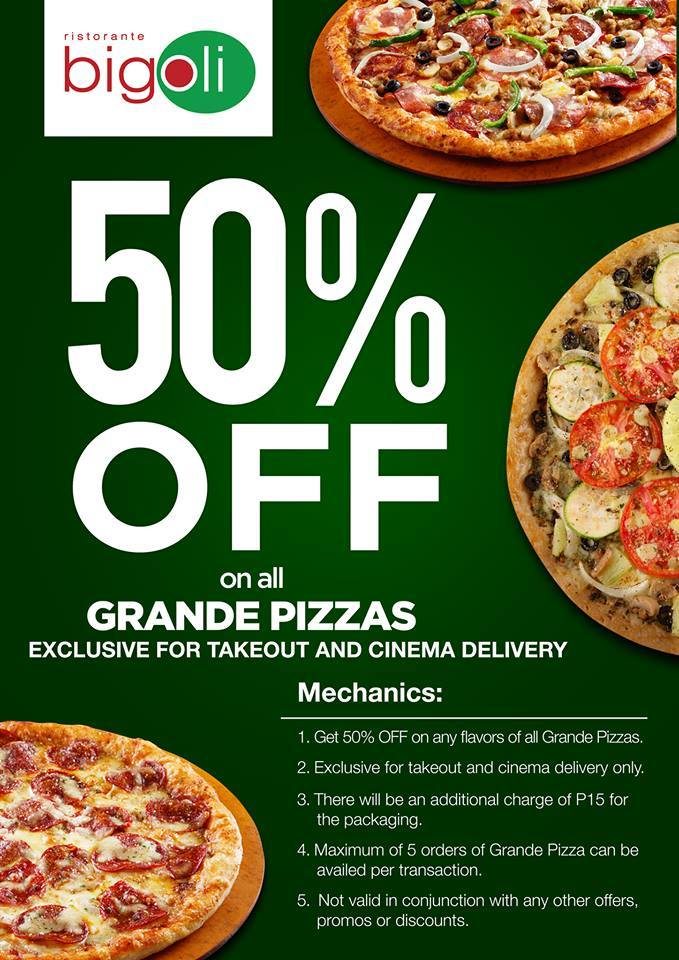 BIGOLI 50% Off On Grande Pizza