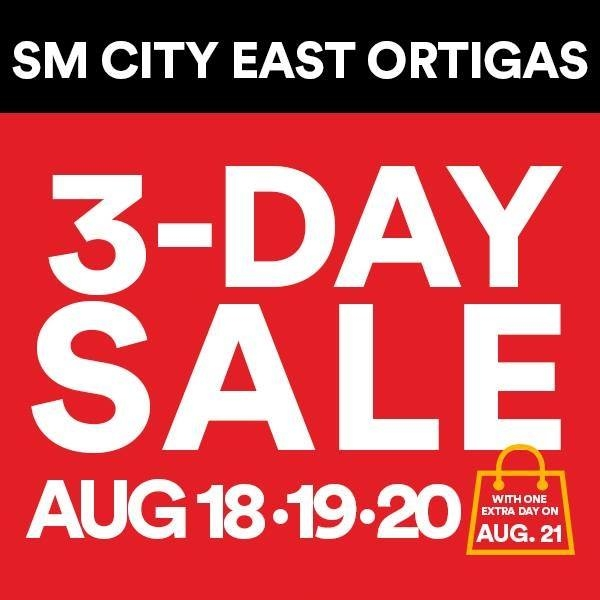 SM City East Ortigas 3 Day Sale