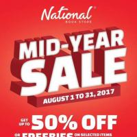 NATIONAL BOOKSTORE Mid Year Sale Up to 50 Off