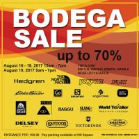 The Biggest Bodega Sale of Luggage, Bags and Outdoor Apparels and Accessories is Happening on August 16 - 19, 2017