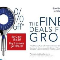 Grohe Upto 30% Off Promo at Wilcon