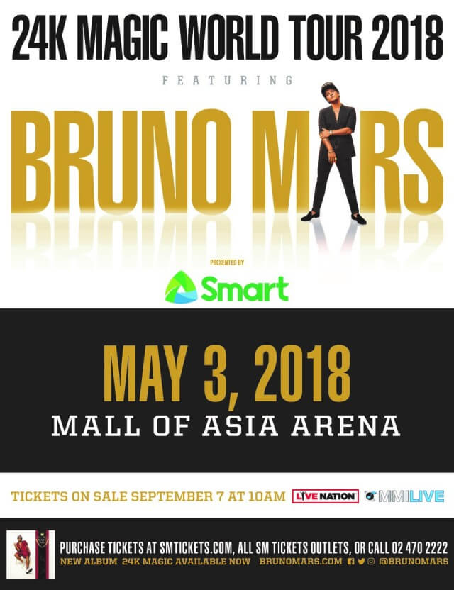Bruno Mars 24K Magic World Tour 2018