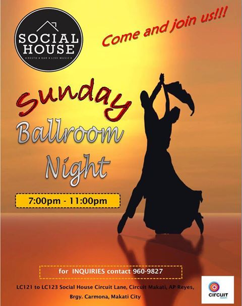 BALLROOM NIGHT AT SOCIAL HOUSE