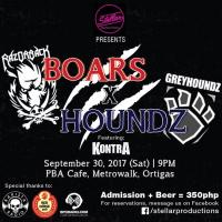 Razorback x GREYHOUNDZ x Kontra at PBA Cafe