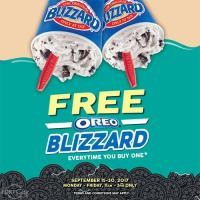 Free Oreo Blizzard