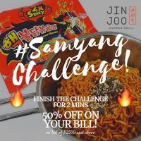 Samyang Challenge at Jin Joo Korean Grill
