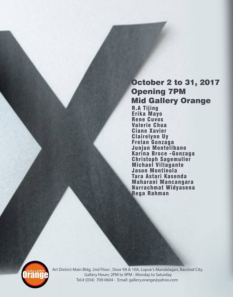 "Gallery Orange present ""X"", a group exhibition"
