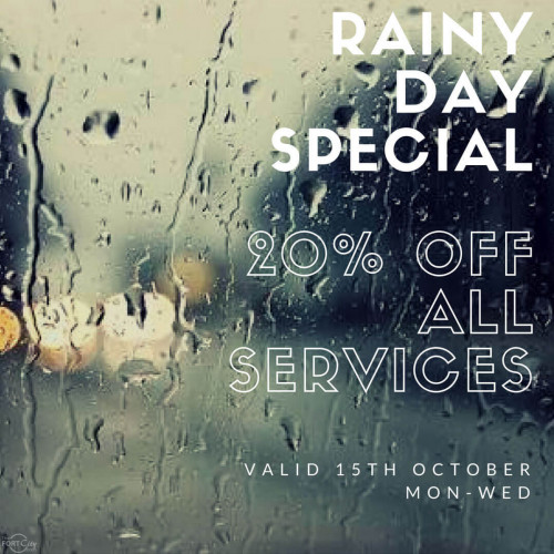 Rainy Day Special at Hairstylist Studio