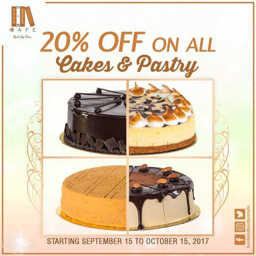 20% Off In All Cakes & Pastry
