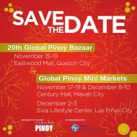Choose Filipino This Christmas Only at 20th Global Pinoy Bazaar and  Global Pinoy Mini Market