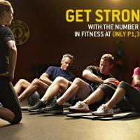 GET STRONGER with Gold's - for as low as Php 1,375 per month
