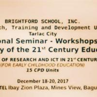 National Seminar Workshop for Teachers