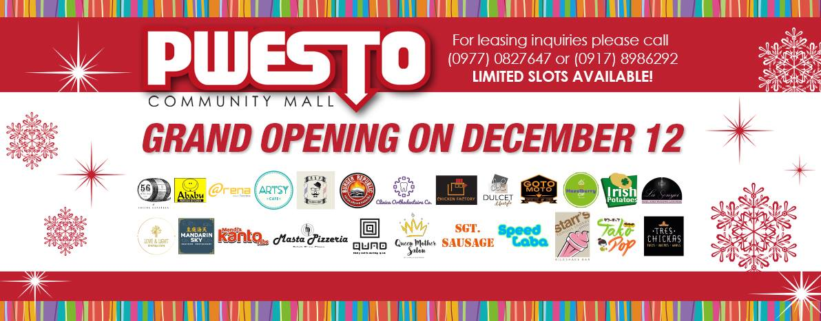 Pwesto Community Mall Grand Opening