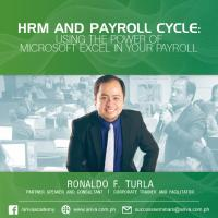 HRM and Payroll Cycle: Using the Power of Microsoft Excel in your Payroll