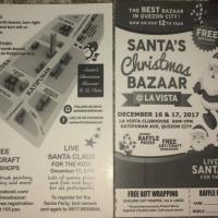 SANTA'S Christmas BAZAAR @LA VISTA