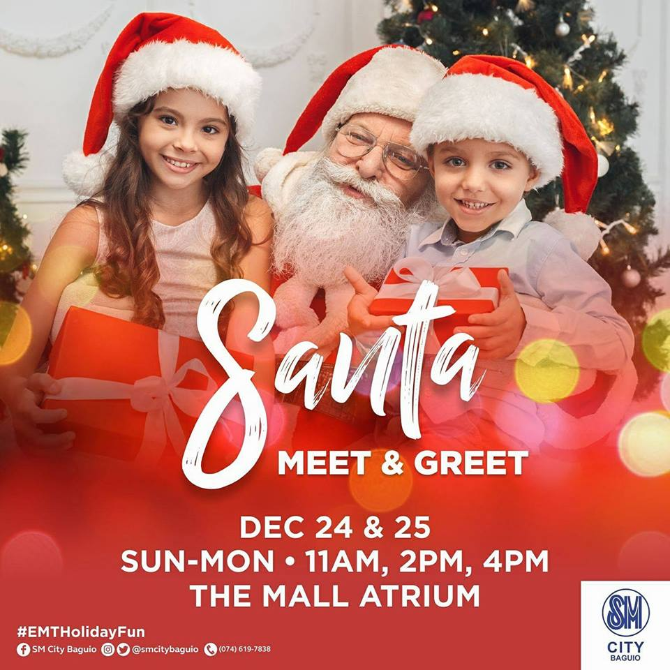 Santa meet and greet at sm city baguio whats happening santa meet and greet at sm city baguio m4hsunfo