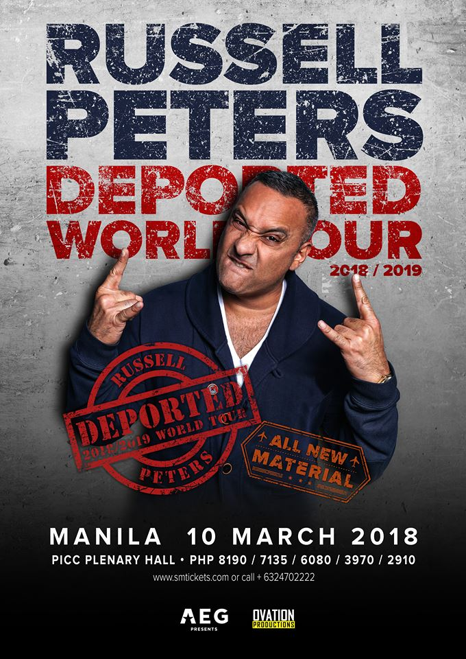 Russell Peters Deported World Tour 2018-2019