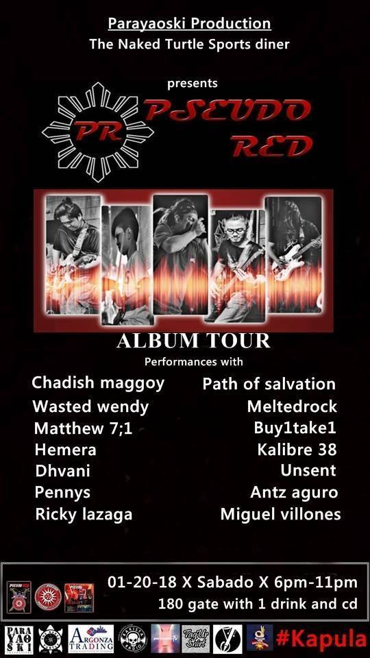 PSEUDO RED ALBUM TOUR AT THE NAKED TURTLE SPORTS DINER