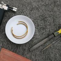 Brass Cuff Couple Workshop With Pulseras By Kim